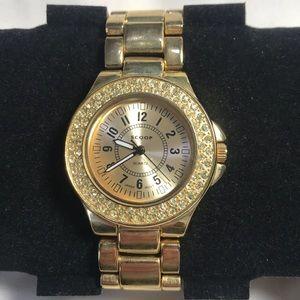 Scoop gold toned quartz watch